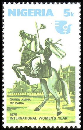 Queen Amina of Zaria African stamp